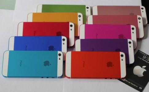 Vỏ iPhone 5 với 10 màu sắc khác nhau