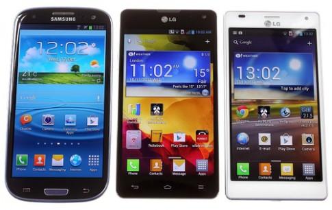 Xem ảnh so sánh kiểu dáng Optimus G và Galaxy S III