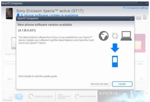 Xperia Active được lên Android 4.0 đồng loạt