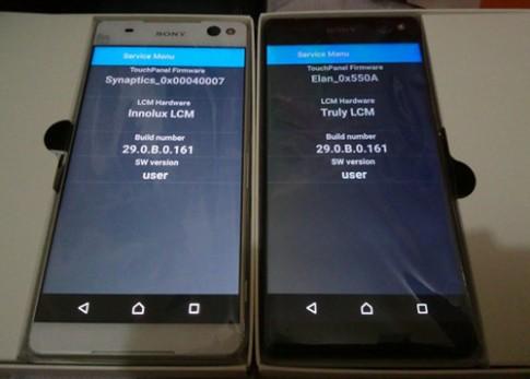 Xperia C5 Ultra sử dụng 2 loại màn hình khác nhau