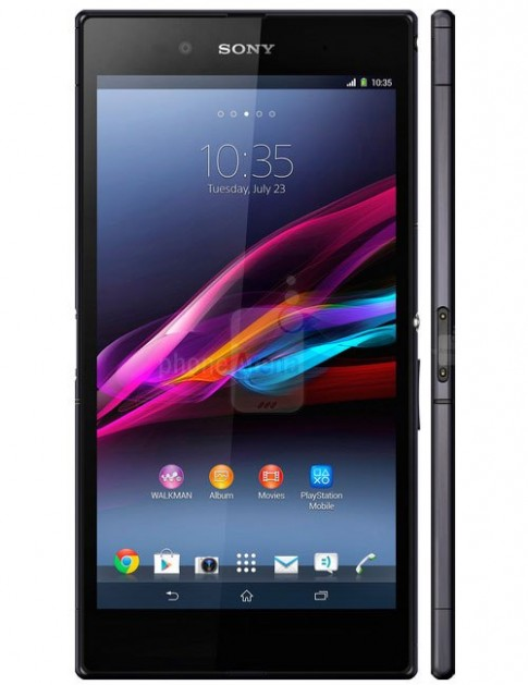 Xperia Z Ultra đọ kích thước với Note II, S4 và iPhone 5