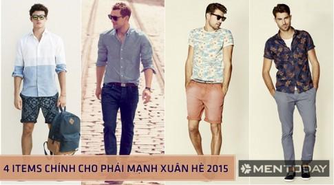 Xu hướng thời trang nam xuân hè 2015: 4 items chính