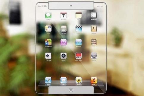 Ý tưởng iPad với màn hình trong suốt