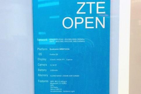 ZTE Open - smartphone đầu tiên chạy hệ điều hành Firefox