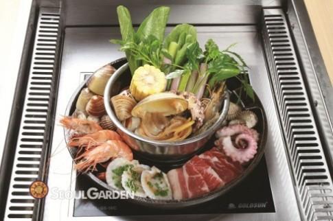 Ăn '4 chỉ tính tiền 3' tại Seoul Garden