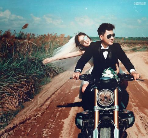 Ảnh cưới siêu cá tính của cặp đôi ai cũng thích Trang Lou - Tùng Sơn