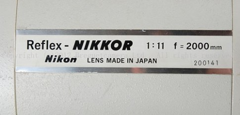 Ảnh ống kínhNikon Reflex-Nikkor 2000mm f/11