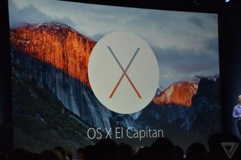 Apple gioi thieu OS X El Capitan