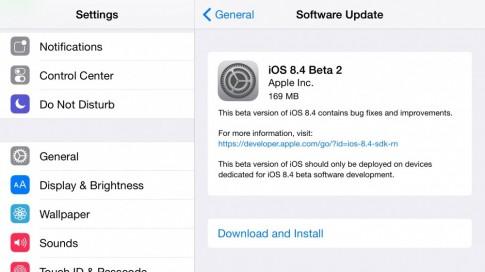 Apple phát hành iOS 8.4 beta 2, OS X 10.10.4 build 14E11f cho lập trình viên và public tester