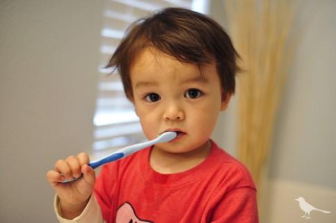 Bé ít uống sữa từ ngày tập đánh răng