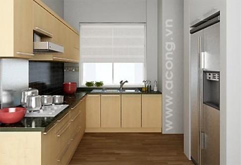 Bếp và phòng ăn ở chung cư