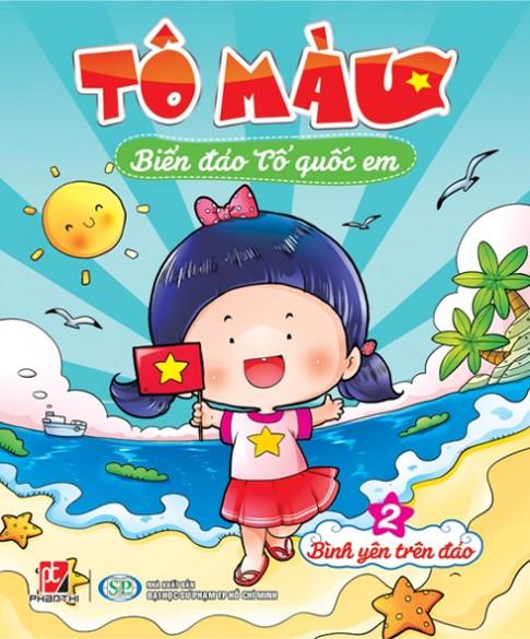 Bộ sách tô màu về biển đảo tổ quốc