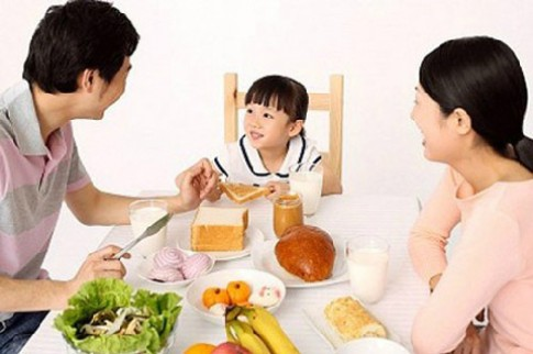 Bữa sáng đủ chất cho trẻ