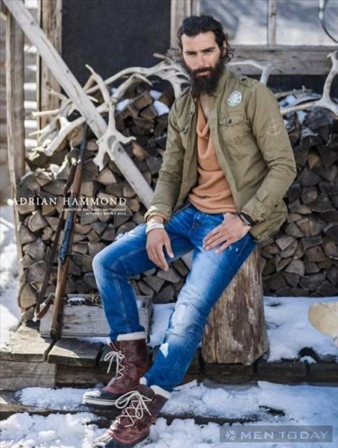 Bụi bặm và quyến rũ với trang phục nam thu đông từ Adrian Hammond