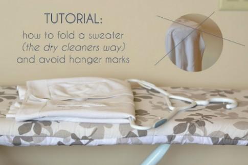 Cách treo áo len không bị giãn