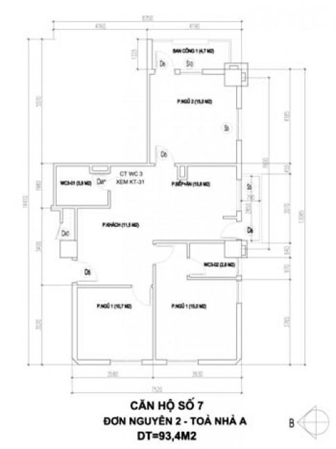 Cải tạo nội thất chung cư 93 m2