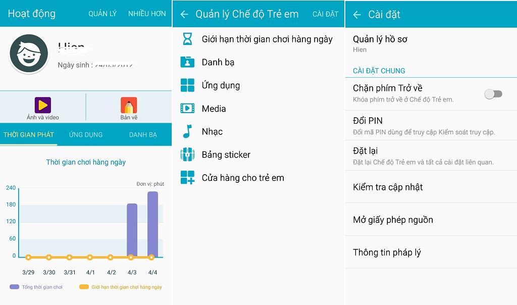 Cải tiến tuyệt vời của ứng dụng chế độ trẻ em (kids mode) trên Samsung Galaxy S6