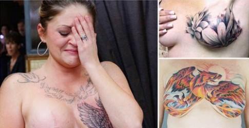 Cảm động với hình xăm che ngực sẹo người ung thư vú