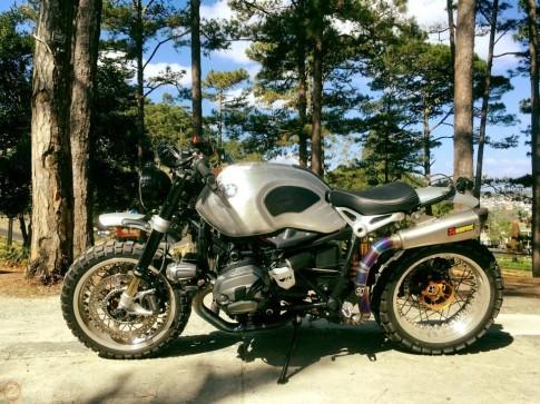Cận cảnh BMW R Nine T độ phong cách Scrambler của biker Sài Gòn