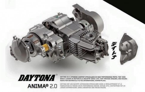 Can canh bo may Daytona Anima 190cc cho Wave Dream