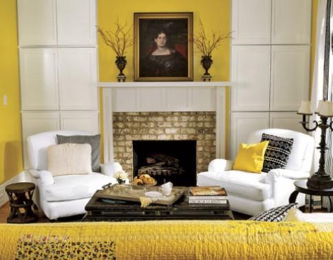 Căn nhà tươi mới với sắc vàng