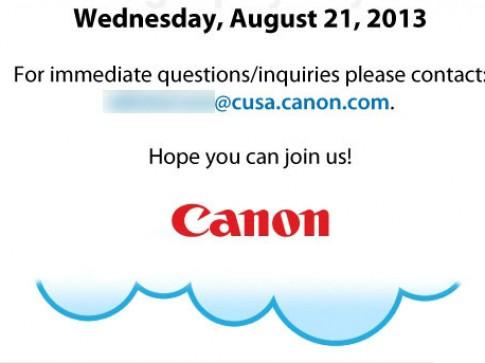 Canon gửi thư mời ra mắt sản phẩm mới vào ngày 21/8