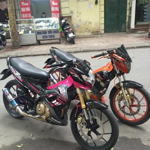 Cặp đôi Suzuki Raider độ cực chất tại Hà Nội