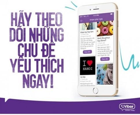 Cập nhật tin tức thật dễ dàng trên mobile với Viber Public Chats