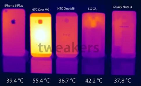 Chip Snapdragon 810 khiến cho HTC One M9 chạm tới độ nóng nguy hiểm khi sử dụng