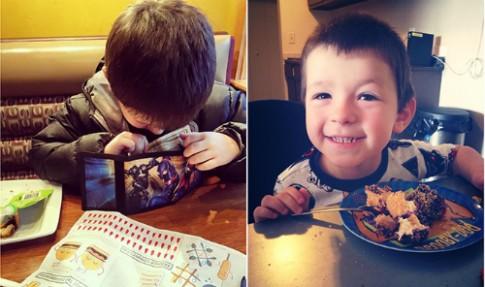 Con trai 6 tuổi mỗi tháng mời mẹ đi ăn một lần bằng tiền tự kiếm