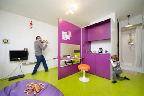 Đa chức năng trong căn hộ 21,5 m2