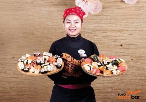 Đa dạng sushi tại Sumo Sushibar