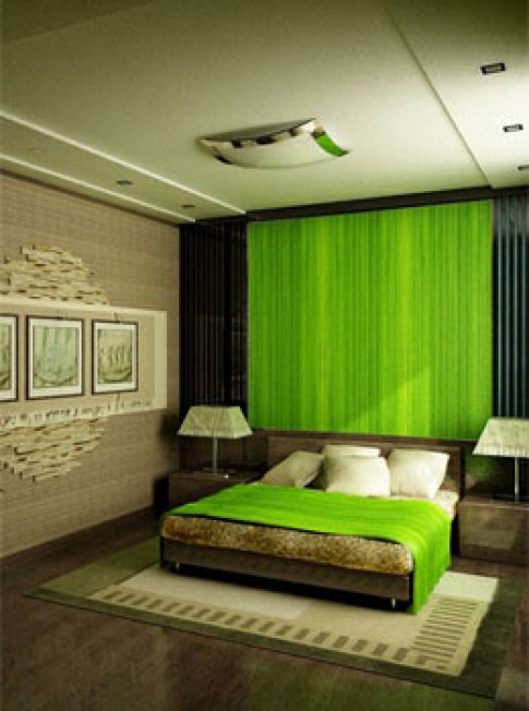 Điều hoà màu sắc trong phòng ngủ