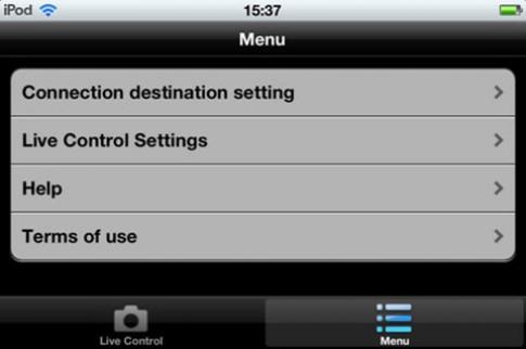 Điều khiển Panasonic FX90 trên di động iOS, Android