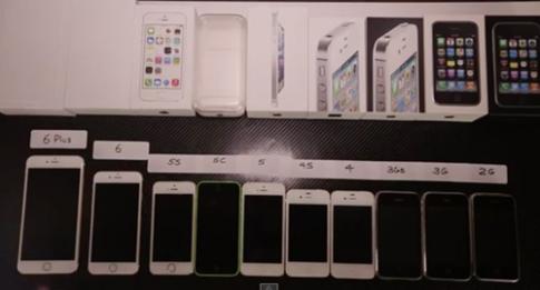 Độc đáo màn thử nghiệm tất cả các sản phẩm iPhone từ trước tới giờ
