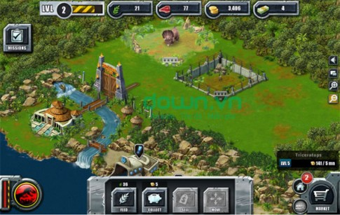 Download game Jurassic Park Builder Android hay dã man luôn