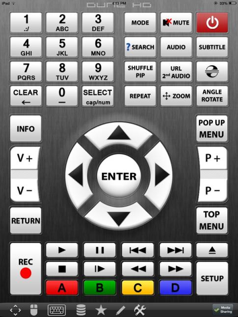 Dune HD RC – Ứng dụng điều khiển Dune HD bằng smartphone và tablet