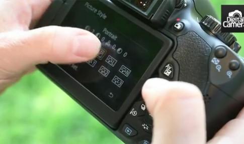 Dùng thử màn hình cảm ứng trên Canon 650D