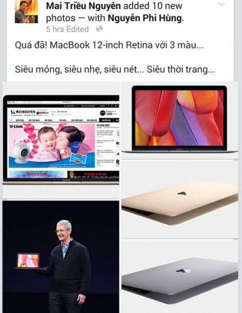 Giới công nghệ Việt Nam sôi sục vì MacBook 12 inch mới của Apple