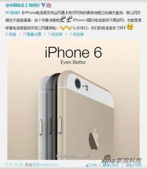 Hình ảnh chính thức của iPhone 6 vô tình bị làm lộ