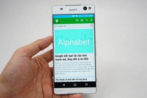 Hình ảnh Sony Xperia C5 Ultra, smartphone 'không viền' màn hình