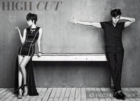 Jung Woo Sung và Han Hyo Joo tình tứ trên tạp chí