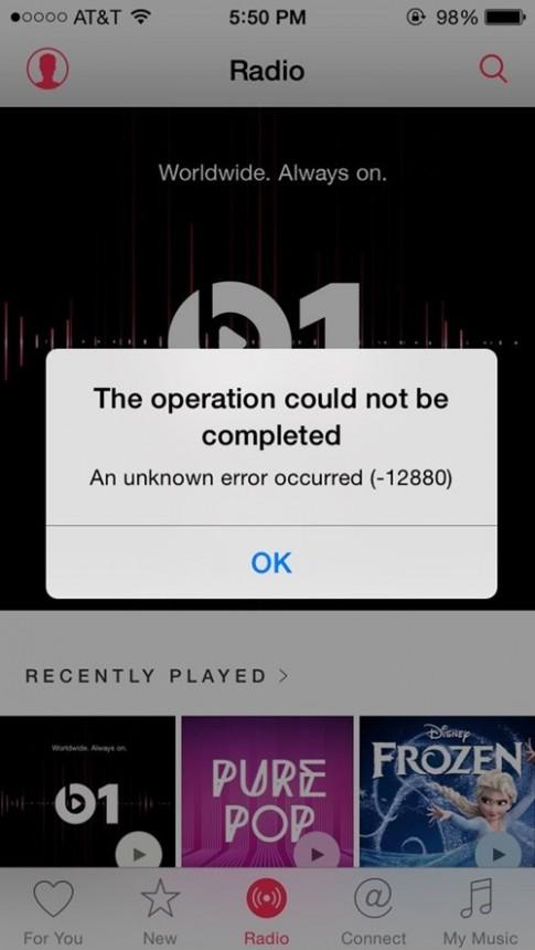 Kênh radio trực tuyến Beats 1 của Apple gặp lỗi ngay ngày đầu ra mắt
