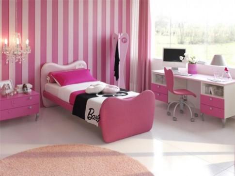 Làm điệu phòng bé gái với sắc hồng