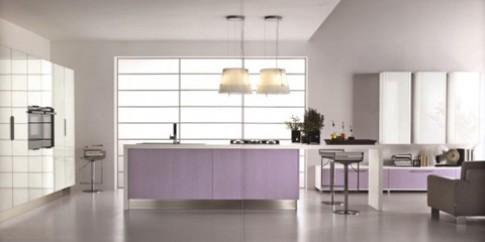 Làm mới phòng bếp với màu tím