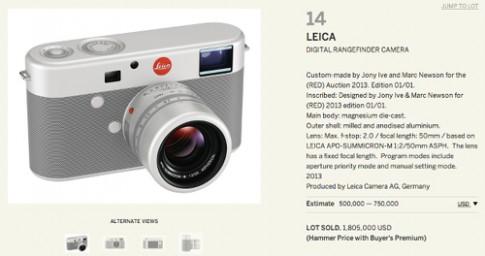 Leica M do Jonathan Ive thiết kế được mua giá 1,8 triệu USD