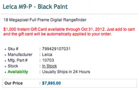 Leica M9 và M9-P giảm giá đến 1.000 USD tại Mỹ