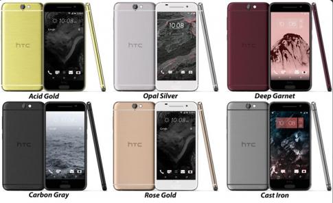 Lộ ảnh của HTC A9 với 6 màu sắc khác nhau - nhìn khá sang trọng.