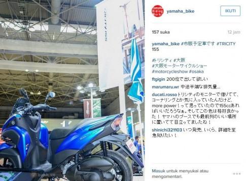 Lộ ảnh Yamaha Tricity 155 2016 hoàn toàn mới