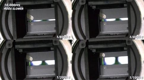 Màn trập máy ảnh quay ở tốc độ 10.000 khung hình mỗi giây
